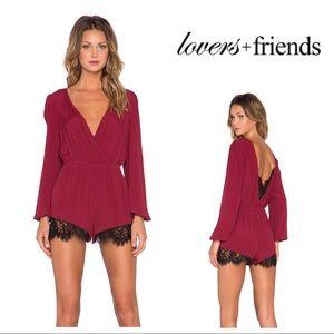[Lovers + Friends] Angel Baby Lace Romper